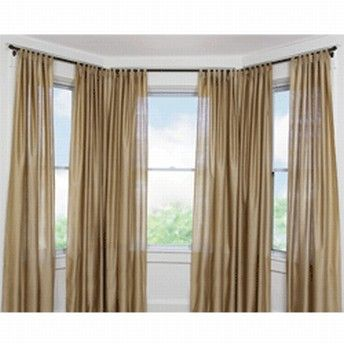 Curtains Ideas bay window curtain rod set : 17 Best images about Bay window ideas curtains and rods on ...