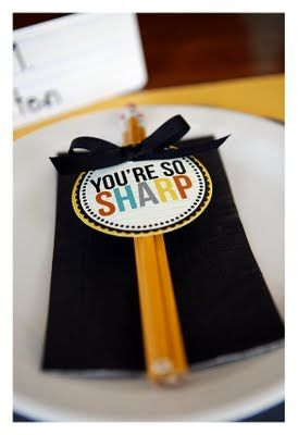 """""""You're So Sharp"""" free printables. Fun idea for back to school or a big test day"""