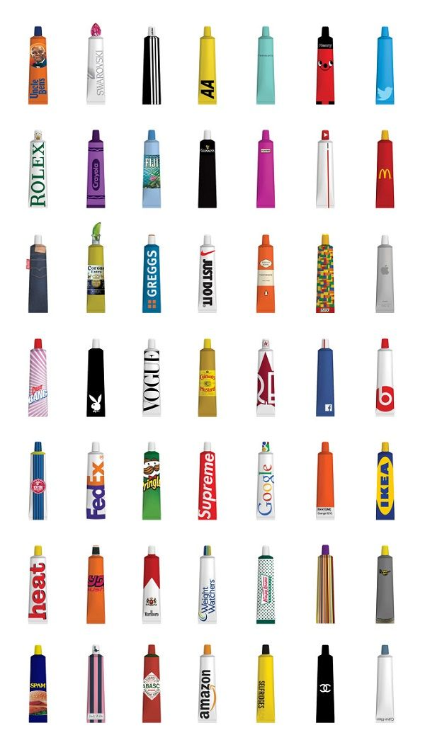 Nike, McDonald's And Other Famous Brands Reimagined As Toothpaste - DesignTAXI.com