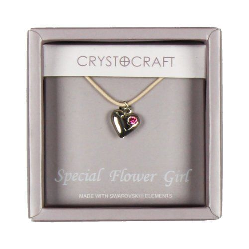 Crystocraft Necklace With Heart Charm Our Special Flower Girl  Price : £6.49 http://www.bronzebarngallery.com/Crystocraft-Necklace-Heart-Special-Flower/dp/B00BNA7626