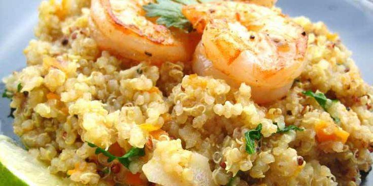 Una ricetta su come preparare la quinoa con gamberi, limone e zenzero.