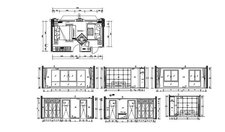 Bedroom Design DWG File Free Download Cadbull in 2020