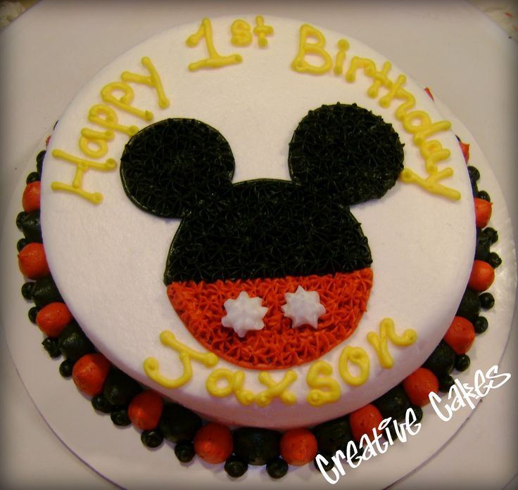 Creative cakes: Mickey Mouse Smash Cake and Cupcakes