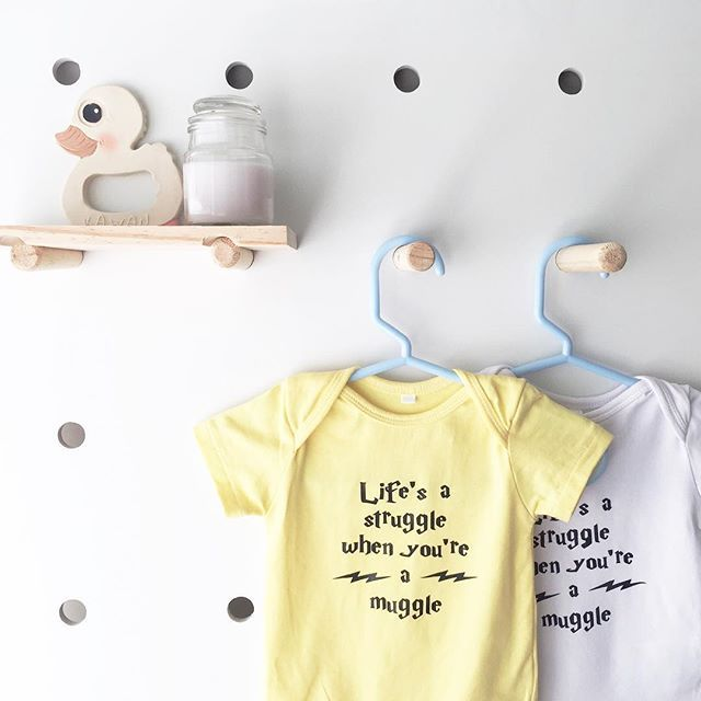 Love this sweet yellow..perfect for any muggle #harrypotteronesies #harrypottertshirts #harrypotter #smallbizau #shoplocalau #smallbizaustralia #perthisok #perthlife #customonesie #customprint #instock #etsy #etsyau