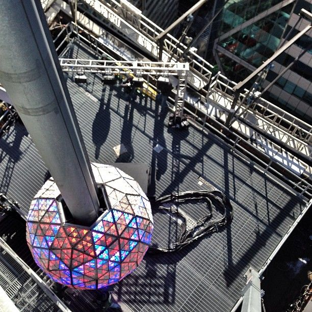 Preparations for New Year's Eve in Times Square, New York City. #NYE #NewYearsEve #NYETSQ #NYC #TimesSquareBall