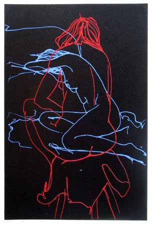 Check out Sitting Nudes in Red and Blue by Peter Lambert at New Zealand Fine Prints