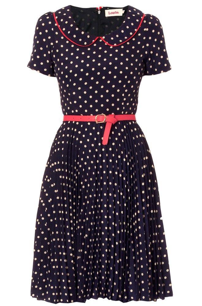 Louche Leanna Spot Collar Dress