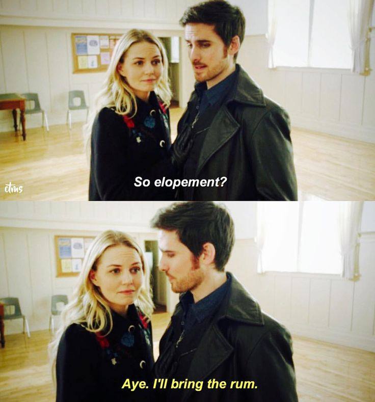 """So, elopement?"" - Emma and Killian #OnceUponATime"
