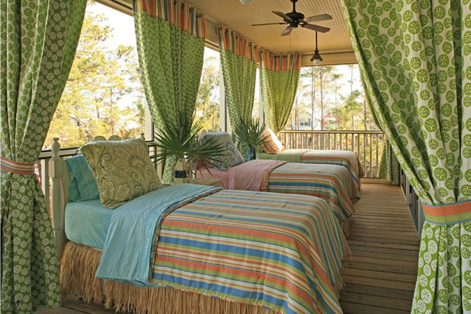 ...: Sleepingporch, Beaches Home, Sleep Porches, Outside Rooms, The Great Outdoor, Twin Beds, Beds Draping, Beaches Houses, Houses Of Turquoise