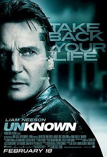 Excellent Movie - 2011 psychological thriller directed by Jaume Collet-Serra, starring Liam Neeson, Diane Kruger, January Jones, Aidan Quinn, Bruno Ganz, and Frank Langella.   The film is based on the 2003 French novel published in English as Out of My Head, by Didier Van Cauwelaert