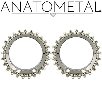 Standard Eyelets in ASTM F-138 stainless steel with silver Sabrina Overlays