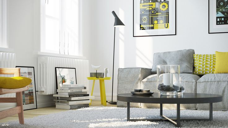 Interior 3D CGI Visualisation - Scandinavian Living