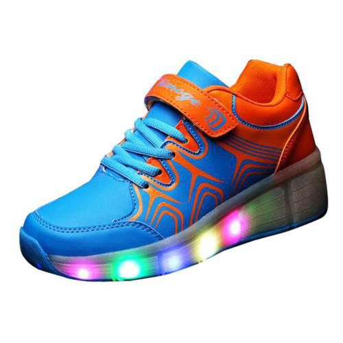 Cool Youth Girl Boy Blue LED Light Up Shoes