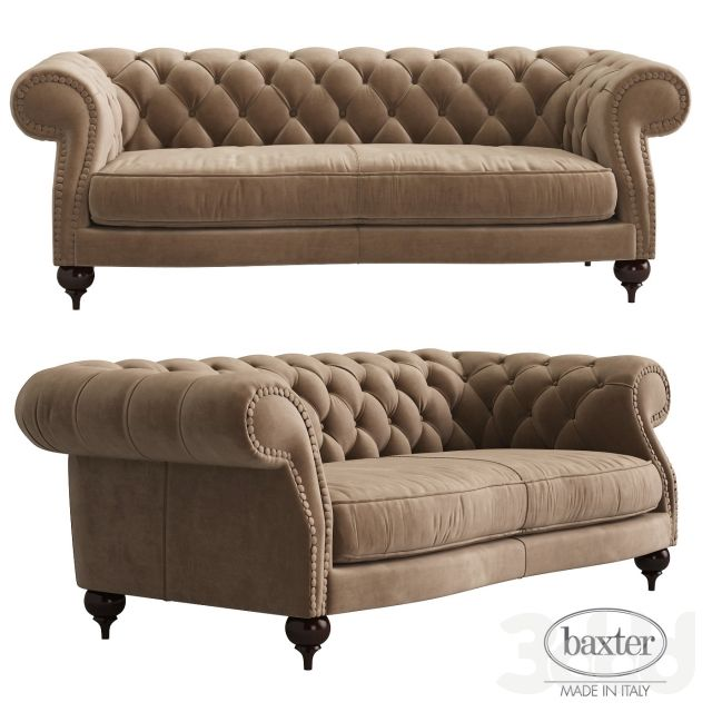 "Club Petite 96"" Upholstered Tufted Sofa in Arabella Ash"