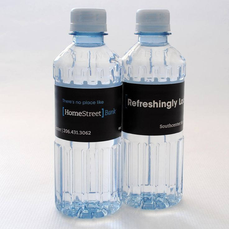 HomeStreet Bank has their own custom labeled bottled water for all branches and mortgage brokers. #banking #branding #mortgagebrokers #marketing