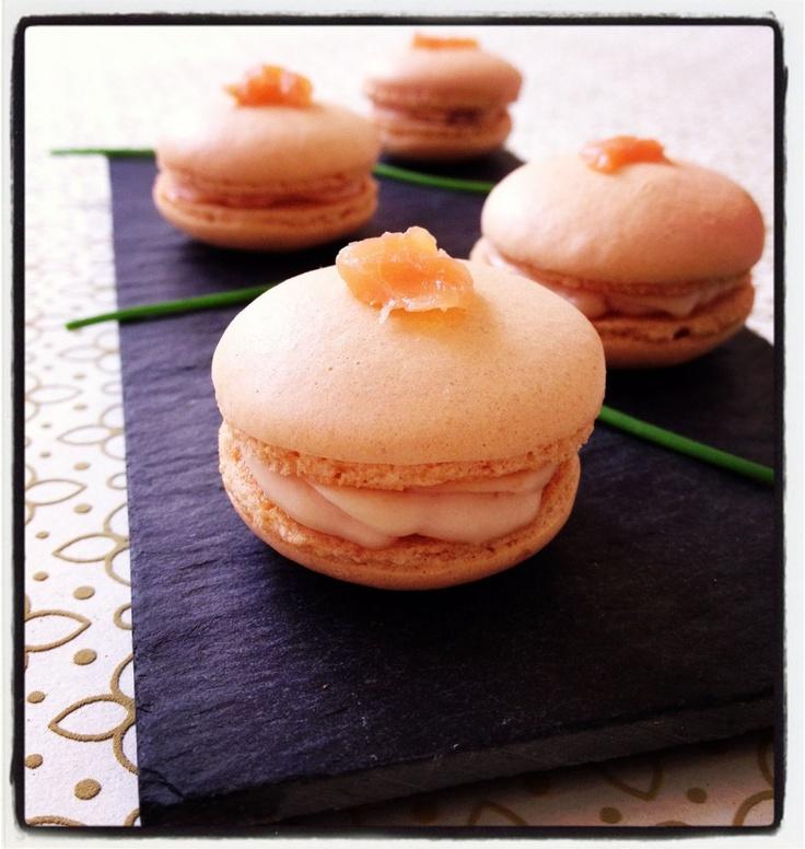 Macarons salés au saumon fumé - les meilleures recettes de cuisine d'Ôdélices