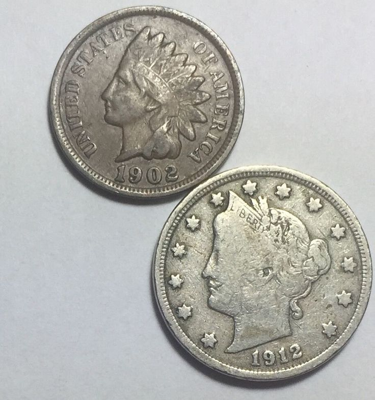 Coin lot w/ Barber dime, Indian Head penny and Liberty V nickel w/ full LIBERTY