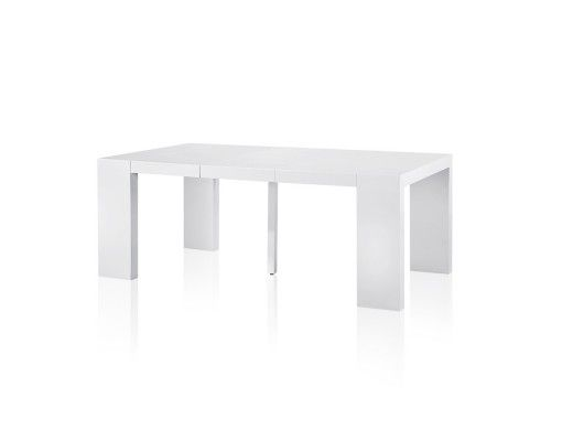 25 best ideas about console extensible blanc laqu on - Table console extensible blanc laque ...