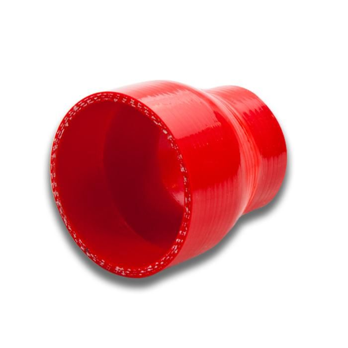 """2.25/"""" To 2.5/"""" Straight Reinforce Black Red Coupler Hose Silicone Piping Intake"""