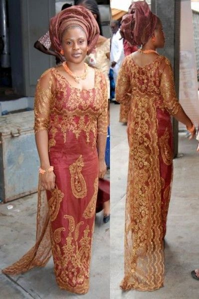 Nigerian lace styles sari wedding dresses and traditional for Current wedding dress styles