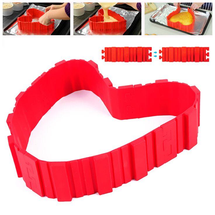 Modo de la nueva llegada de silicona precioso color rojo pastel de silicona del molde de la categoría alimenticia diy set #88315