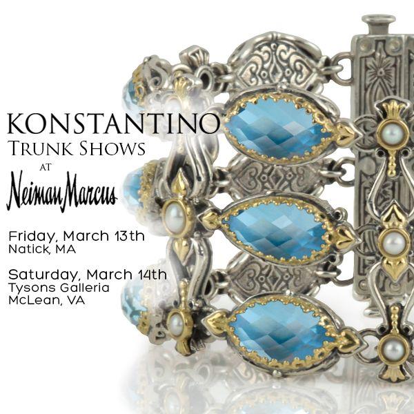 Don't miss the new Trunk Shows! #konstantino #jewelry #jewels #treasure #womensfashion  #neimanmarcus #trunkshow