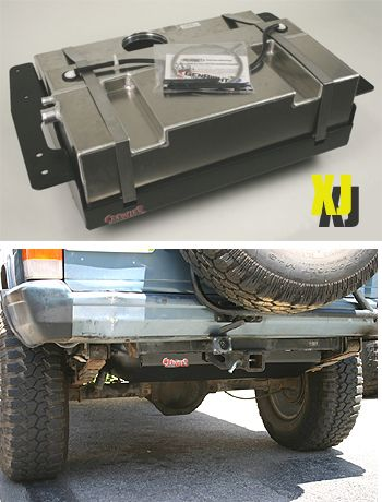 30.5 gallon aux fuel cell for Jeep Cherokee XJ. This would eliminate frequent stops on your trips.