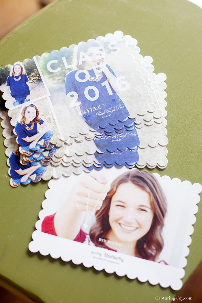 Get ready early with thes graduation announcement cards from Shutterfly!  Capturing-Joy.com