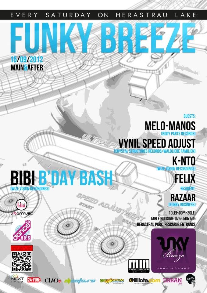 Saturday night, 15/09 @ Funky Breeze Herastrau