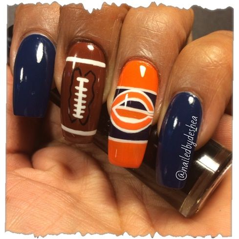 chicago bears by nailedbydeshea from Nail Art Gallery