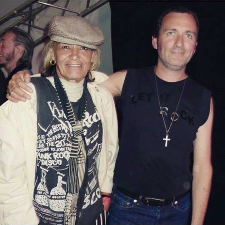 """Anita and Paul Gorman at the """"Let it Rock"""" event at Port Eliot fest, 2007"""