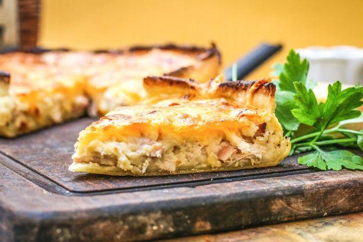 Tarta de pollo cremosa