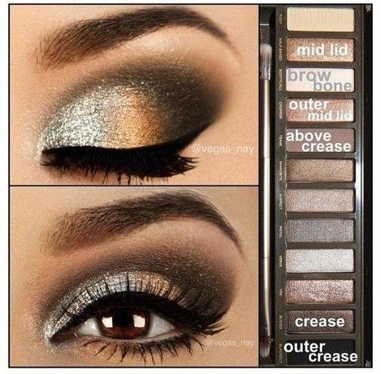 Maquillaje para ojos en tonos tierra