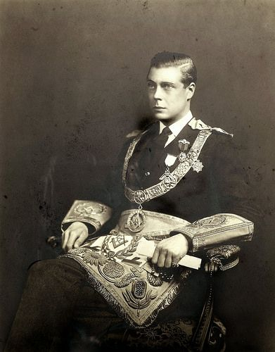 Prince Edward, later King Edward VIII and later still, Duke of Windsor, in his Masonic dress.
