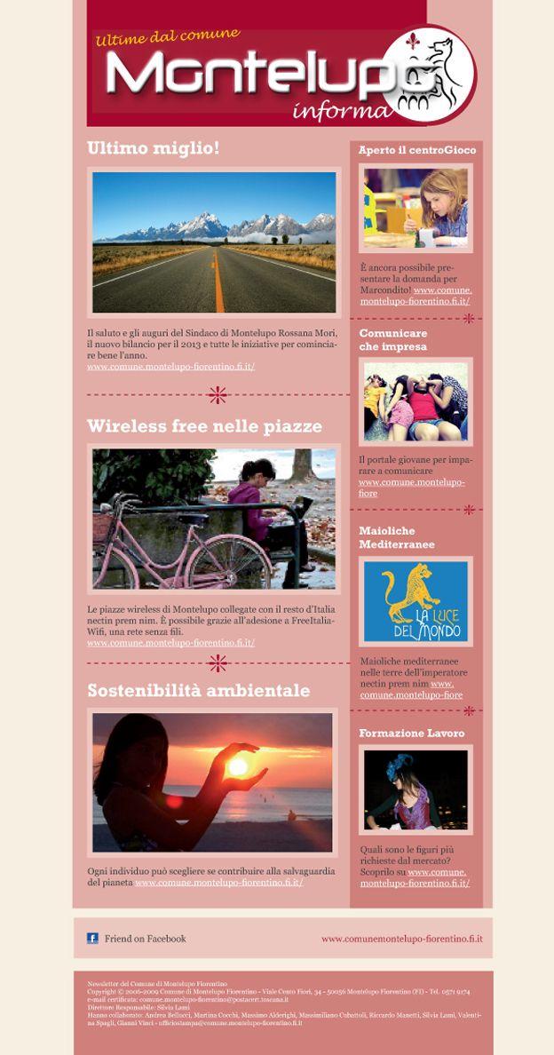 Newsletter del Comune di Montelupo Fiorentino realizzata da Edimedia --->> http://www.edimedia-fi.it/progetti/house-organ-montelupo-informa-e-newsletter-comune-montelupo-fiorentino