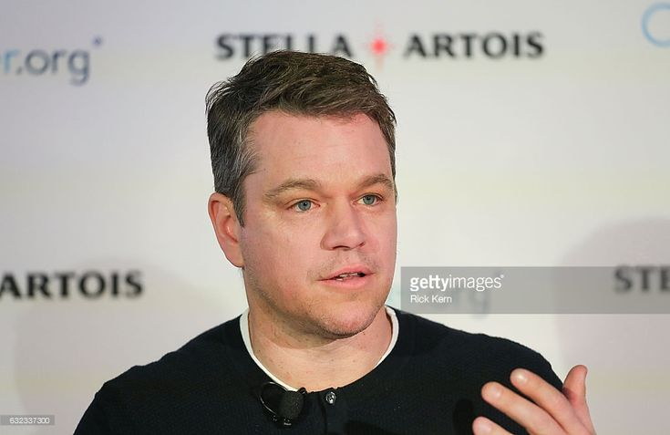 Matt Damon joins Stella Artois in honor of the Buy A Lady A Drink campaign during the Sundance Film Festival on January 21, 2017 in Park City, Utah.  (Photo by Rick Kern/Getty Images for Stella Artois)