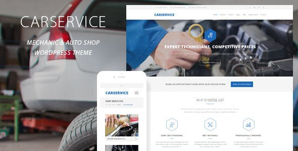 Car Service – Mechanic Auto Shop Theme is a responsive and retina ready WordPress Theme best suitable for auto mechanics, car repair shops, mechanic workshops, car repair services, auto painting, auto detailing, tire and wheel shops or handyman business. Tags: auto, auto center, auto service, auto shop, body shop, car, Car Repair, garage, handyman, mechanic, motor, repair, serviceman, tires, workshop.