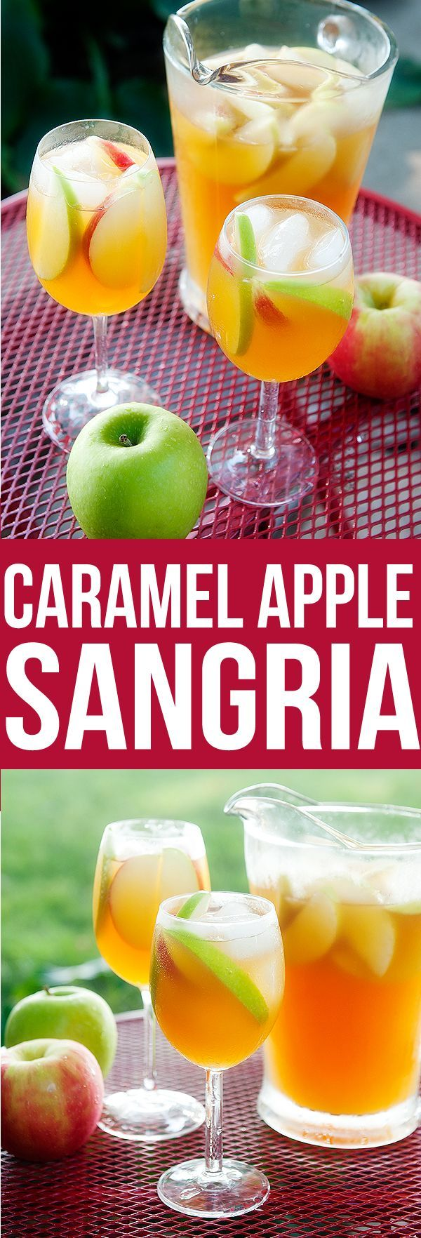 Caramel Apple Sangria, I will try using asti moscato instead of Pinot Grigio, will be sweeter and sparkling a bit.