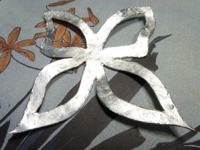 * heirloom | oogst-sieraden * Hanger * Vlinder XL met structuur * Van eigen zilver vervaardigd * Maatwerk *