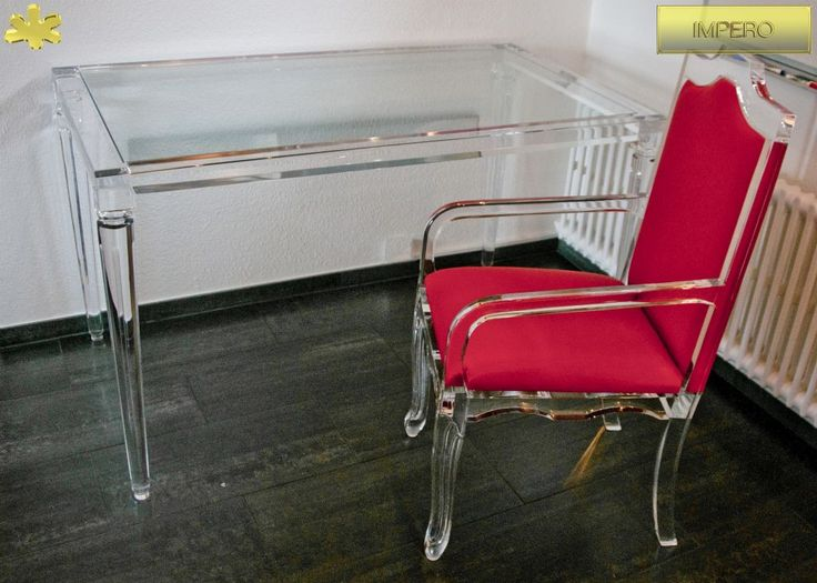 Acrylic console table lucite - CONSOLLE IN PLEXIGLAS | Consolle in plexiglas 02.mod. IMPERO | Consolle plexiglass cm.140 x 80 h.76 - telaio sp.mm.50 - gambe sez.mm.70
