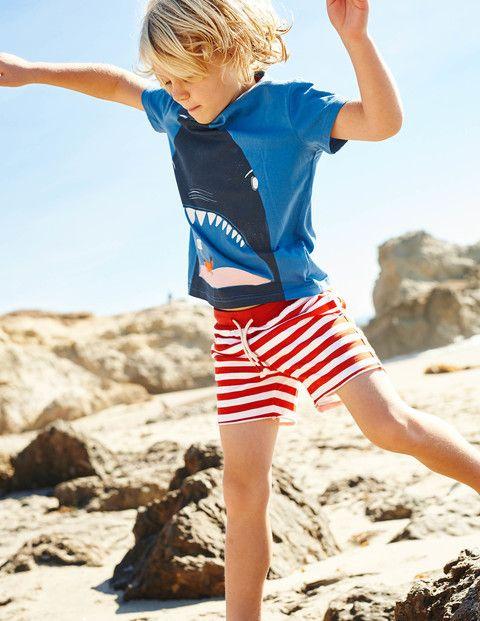 Deep Sea T Shirt Amp Stripy Sweatshorts Mini Boden Boys
