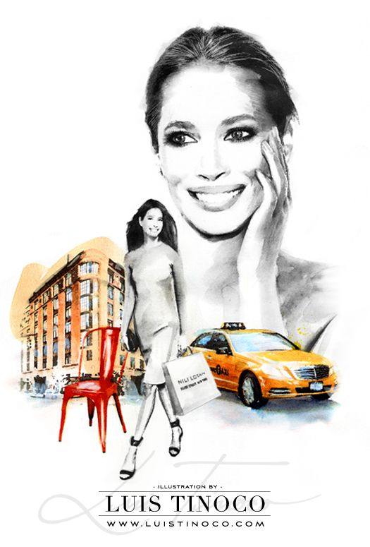 "MAYBELLINE NYC GUIDE 2014 ""BCKSTG"" Christy Turlington Portrait ILLUSTRATION by LUIS TINOCO http://www.luistinoco.com/"