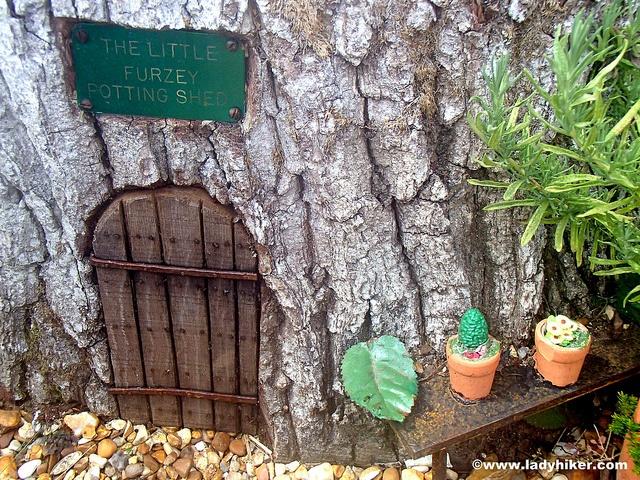 We love finding the fairy doors at Furzey Gardens, Minstead.
