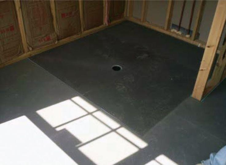 Installing an barrier free concrete shower pan google for Ada flooring