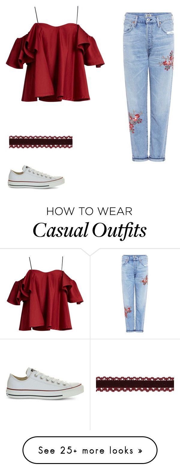 """Casual chic"" by abeer-fashionalist on Polyvore featuring Anna October, Citizens of Humanity and Converse"