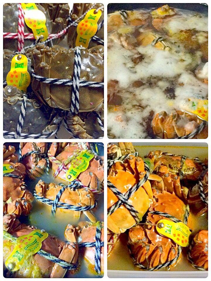 値切った!叩いた!❤️❤️上海蟹❤️❤️ 上野のアメ横センタービル 迷わす塩茹でにしました。