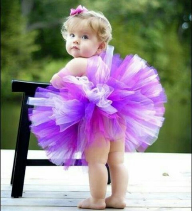 This tiny dancer is very cute in this puffball style tutu.