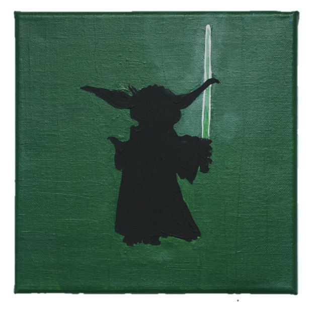 Star Wars Yoda Silhouette by BoutiqueAustralia on Etsy
