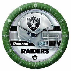 NFL Oakland Raiders Game Time Clock on amazon ON SALE today for just $12.55 Find it here by clicking on the picture.  see more great items like this at great prices at http://www.ddsgiftshop.com/
