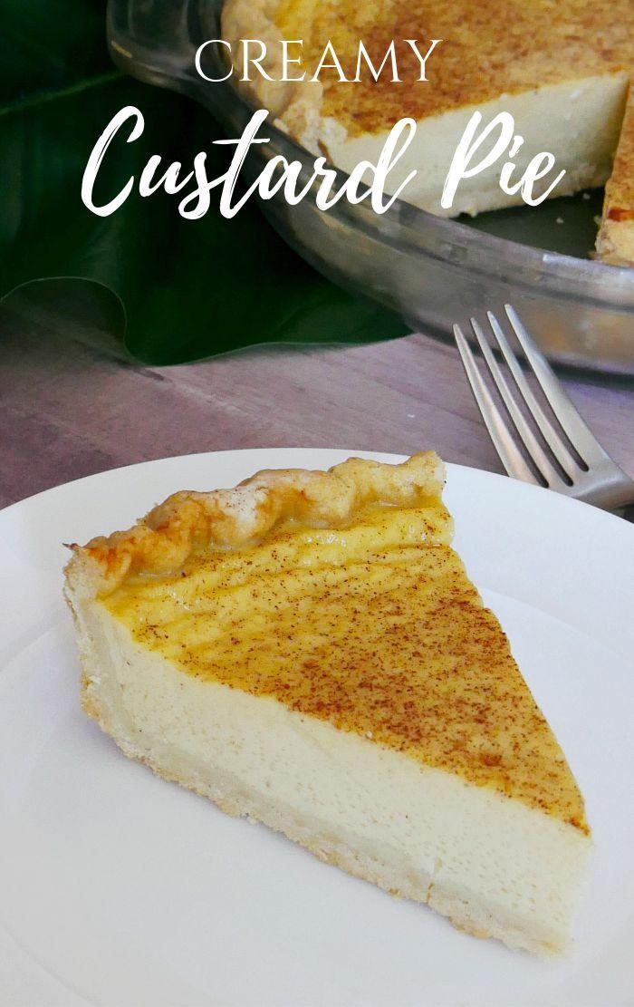 Custard Pie Recipe Evaporated Milk Recipes Milk Recipes Custard Pie Recipe